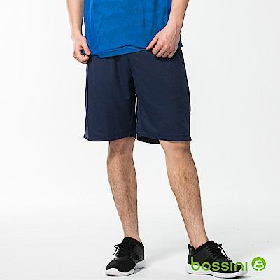 bossini男裝-速乾針織短褲03海藍