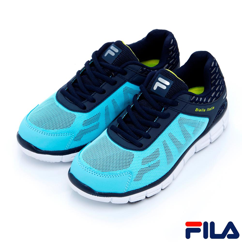 FILA女慢跑鞋-水藍5-J906R-334