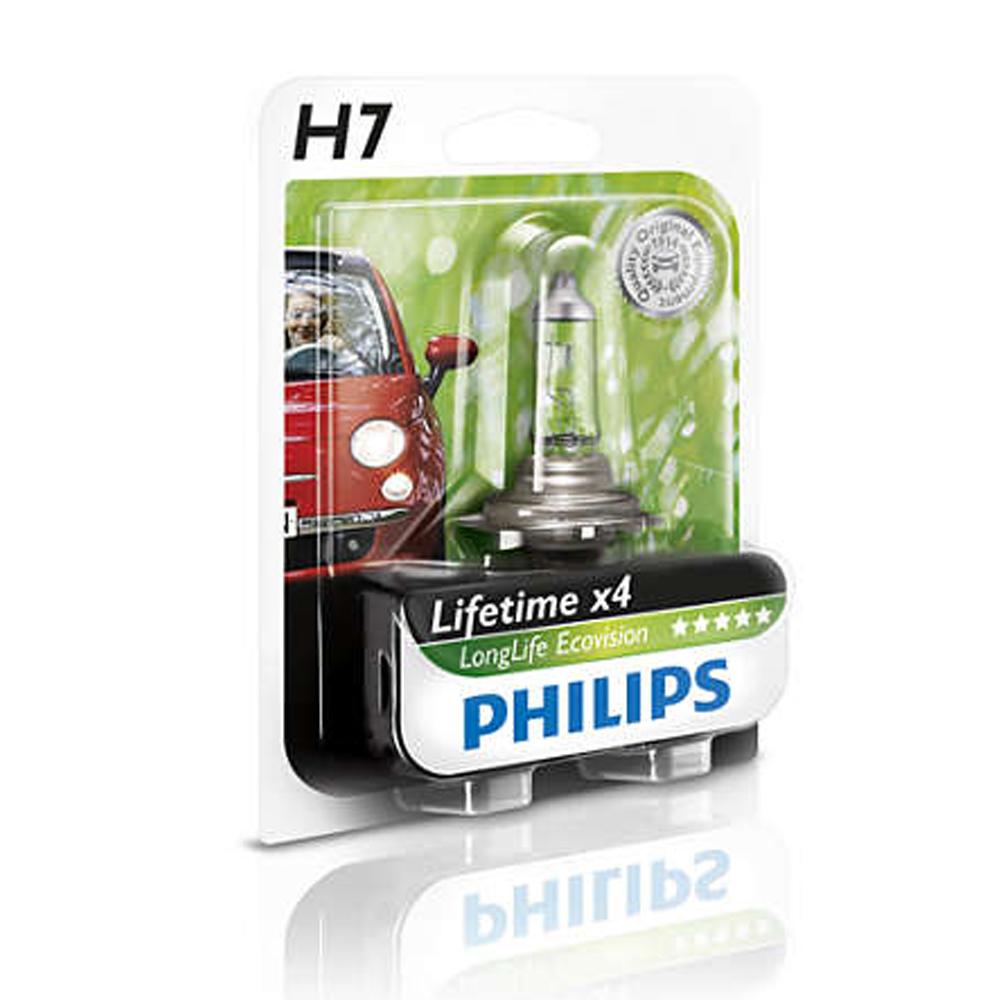PHILIPS 飛利浦 四倍壽命環保車燈(H7)公司貨-急速配