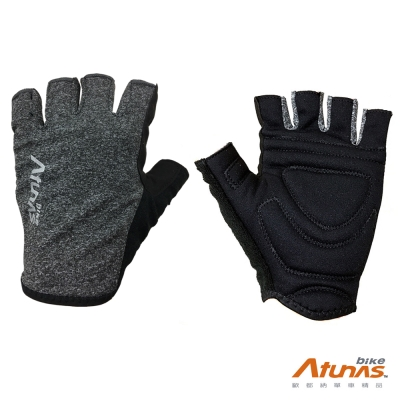 《AtunasBike》GV1702 單車短指手套 黑灰