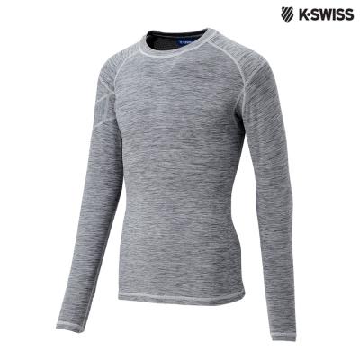 K-Swiss Performance LS Tee運動長袖T恤-男-灰