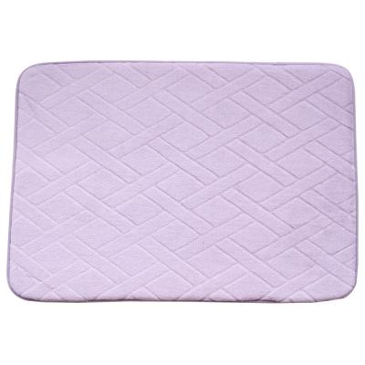 【wepon】記憶棉防滑地墊(藕紫色)2入