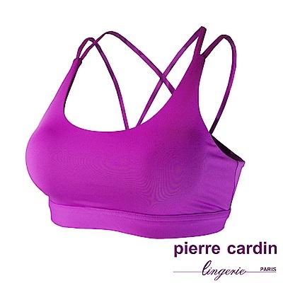 【pierre cardin 皮爾卡登內衣】輕感美背吸排 無鋼圈運動內衣(紫色)