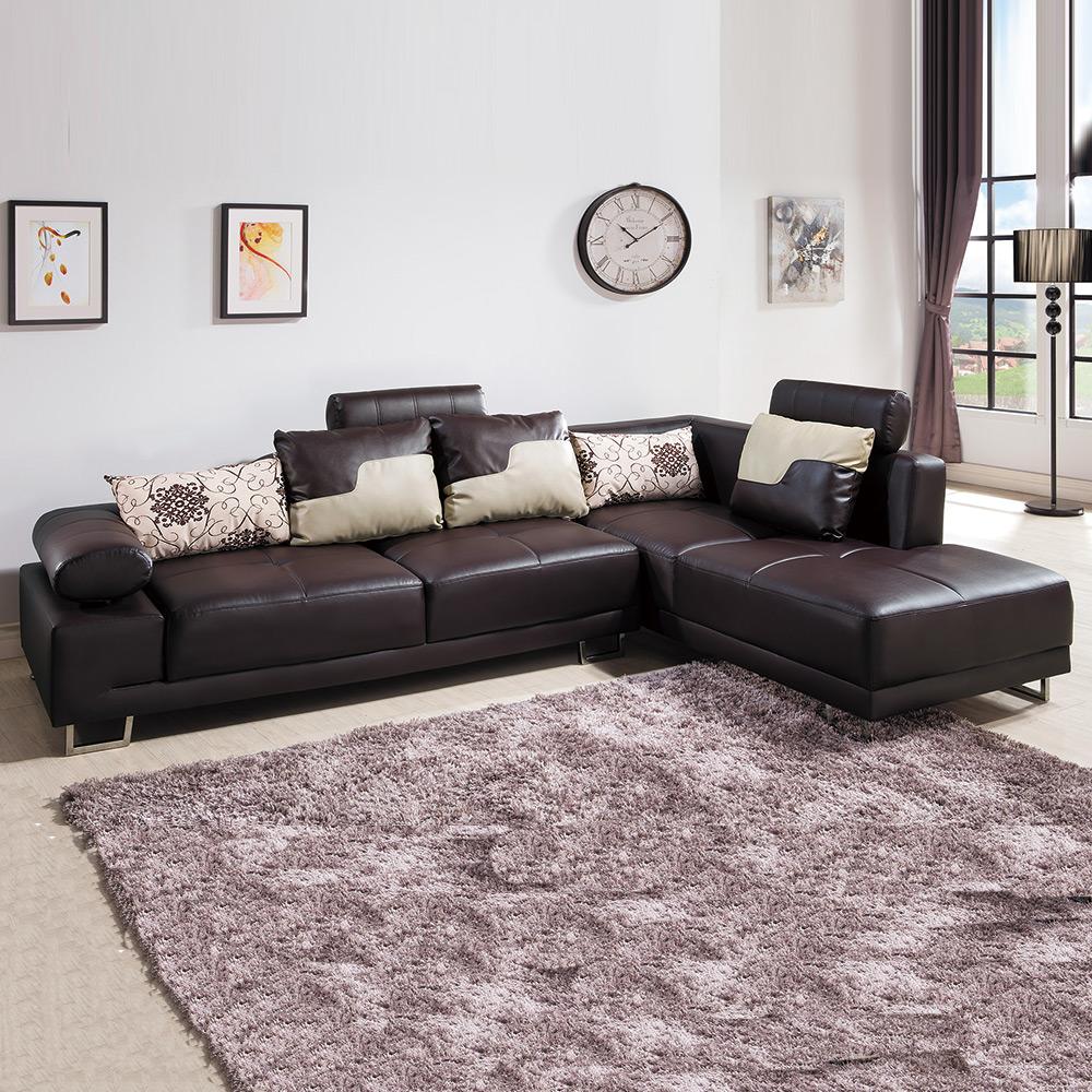 AS-吉伯特L型咖啡皮沙發