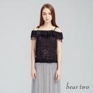 beartwo網路獨家-輕透點點雪紡細肩背心上衣(二色)-動態show
