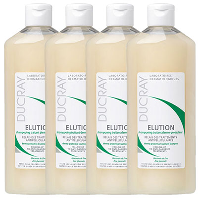 DUCRAY護蕾 控油舒敏洗髮精-基礎型200ml (四入特惠組)