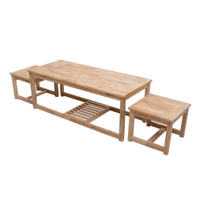 諾雅度-原生實木大茶几/附椅-寬120x深50x高45cm