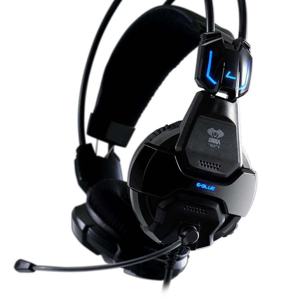E-Blue Cobra 707 眼鏡蛇耳機 發光耳機麥克風 EHS016BK