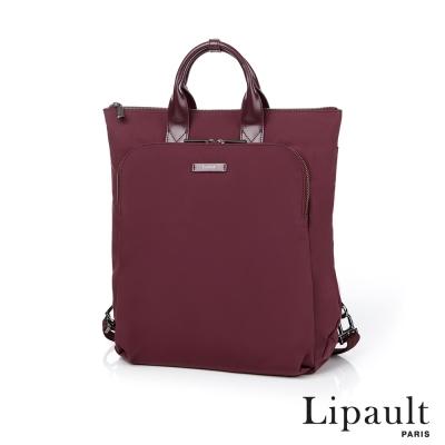 法國時尚Lipault 輕量托特後背包(深酒紅)