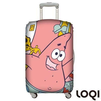 LOQI 行李箱套│海綿寶寶派大星L號 適用28吋以上行李箱保護套