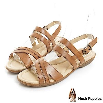 Hush Puppies DACHSHUND 舒適減壓羅馬涼鞋-棕色