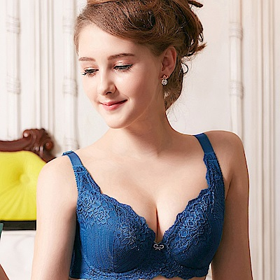 EASY SHOP-美漾開運 大罩杯E-G罩成套內衣(開創藍)