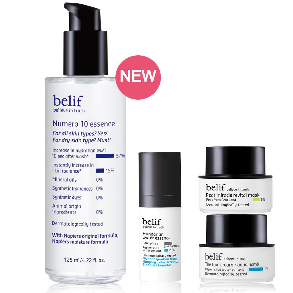 belif 含生草保濕前導精華125ml增量瓶四入組