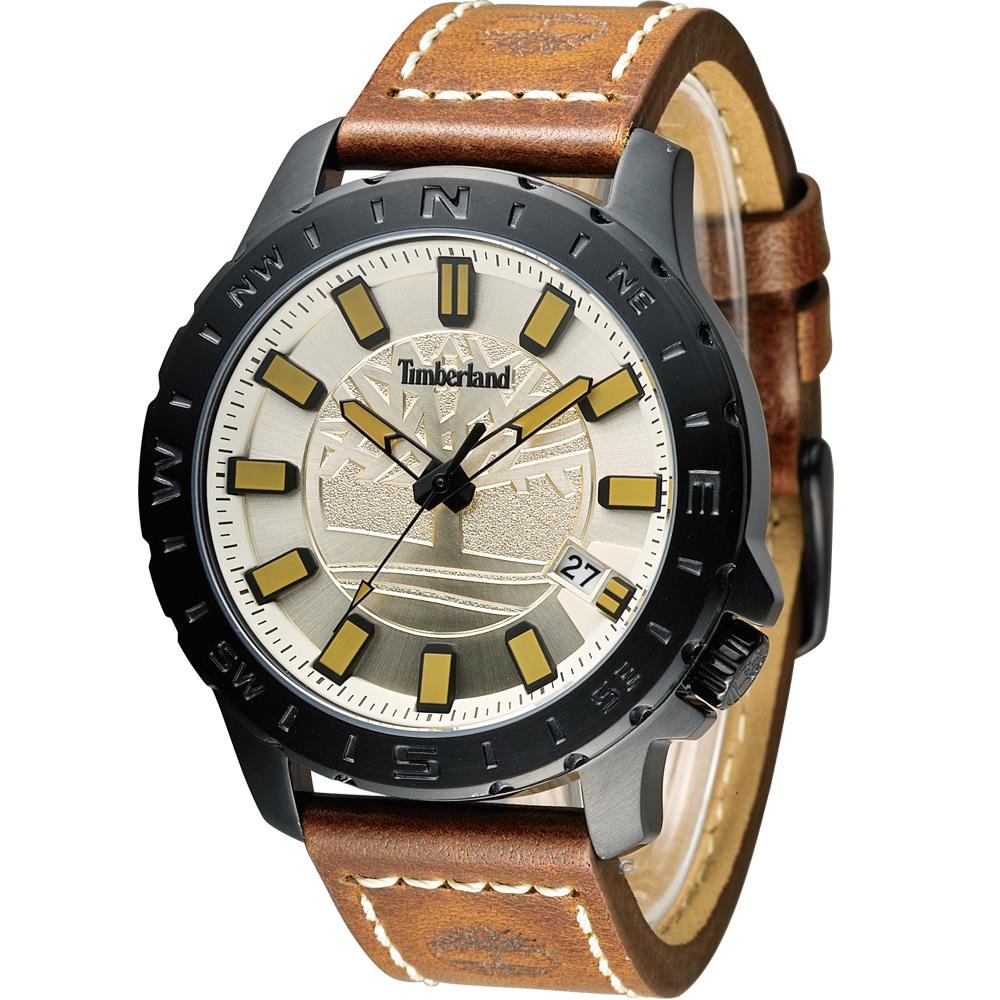 Timberland 海上冒險時尚腕錶-香檳金色/45mm