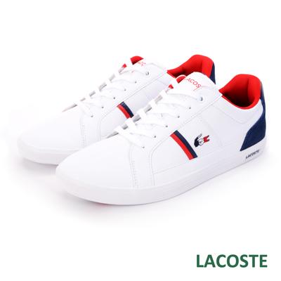 LACOSTE 男用休閒鞋-白色