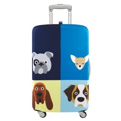 LOQI 行李箱套 - 狗大爺L號 (適用28吋以上行李箱)