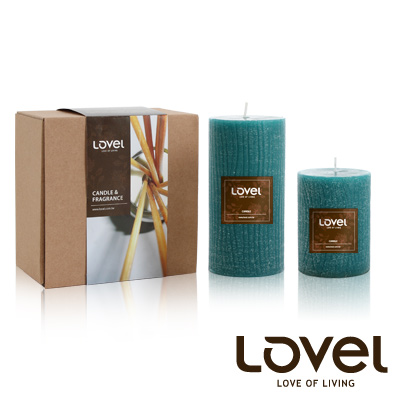 【LOVEL】香氛手工蠟燭組(樹木紋系列-南洋)