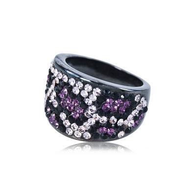 ACUBY 小惡魔動物紋戒指/仿舊紫款