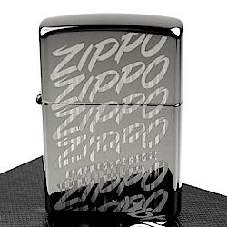 ZIPPO 美系~Zippo Script-復古Logo雙重雕刻打火機