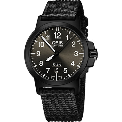 Oris BC3 Advanced 日曆星期機械腕錶-鐵灰x黑/42mm