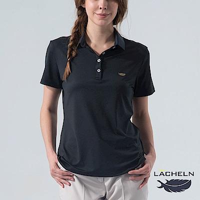 【LACHELN】Coolmax彈性百搭POLO衫-黑(L62W909)