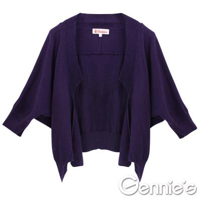 【Gennie's奇妮】舒適質感蝙蝠袖秋冬孕婦針織小外套/罩衫(GSY10)