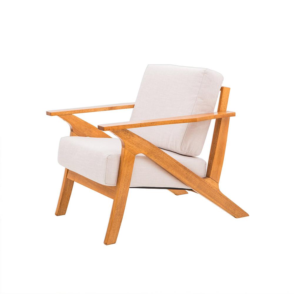 日木家居 Ian伊恩實木單人沙發