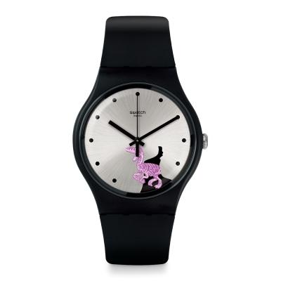 Swatch 田園風情系列 PINKOSAURE 粉紅恐龍手錶-41mm