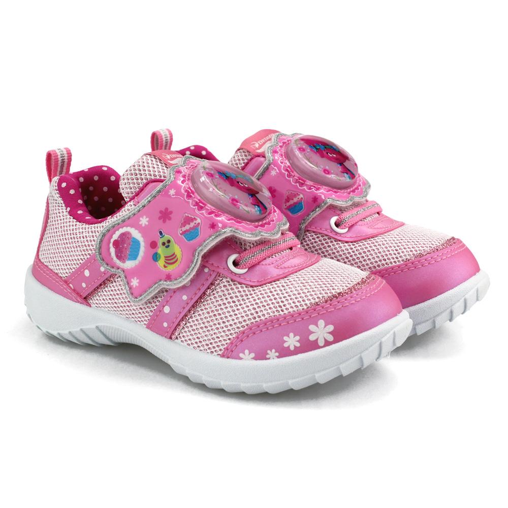 夢工廠美國中童魔髮精靈卡通電燈運動鞋粉紅