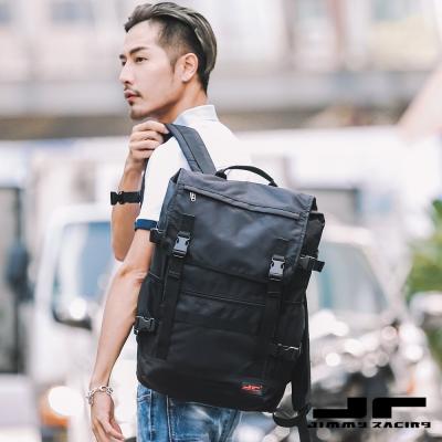 JimmyRacing學院風大容量雙肩背包後背包旅行包16吋筆電包