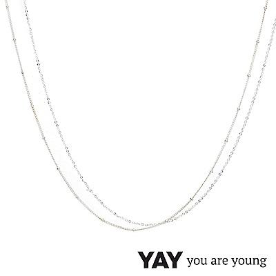 YAY You Are Young 法國品牌 Stella 簡約項鍊 925純銀
