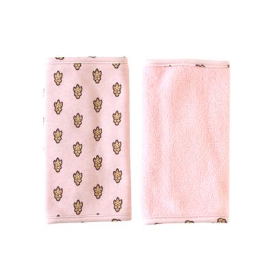 SOULEIADO 芙蓉花背巾口水巾(粉紅)