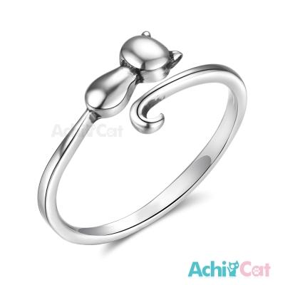 AchiCat 925純銀戒指尾戒 小貓愛撒嬌