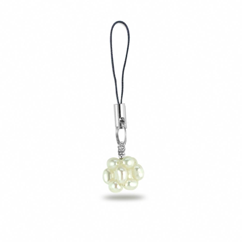 City Diamond引雅 手作設計系列  天然米粒珠手機包包小吊飾