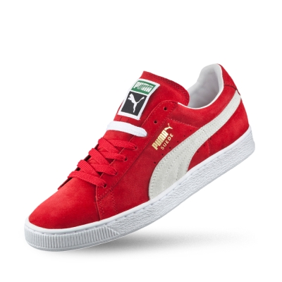 PUMA SuedeClassic+男女復古籃球運動鞋-緞帶紅