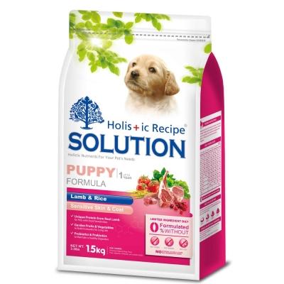 SOLUTION 耐吉斯 幼犬 聰明成長配方 羊肉&田園蔬菜 3公斤 X 1包