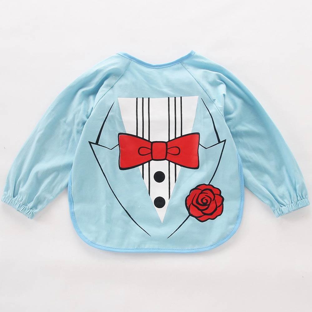 Baby unicorn 淺藍西裝紳士造型長袖圍兜