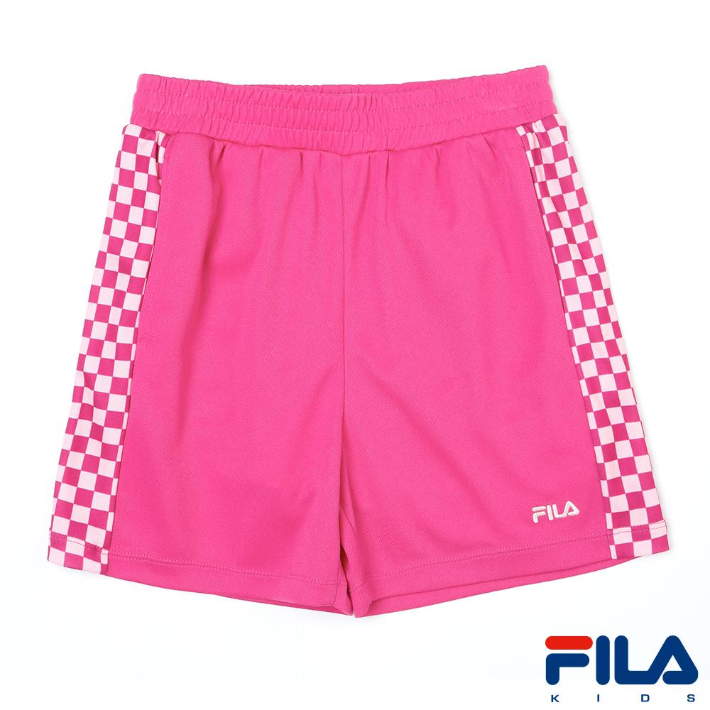 FILA KIDS女童吸排短褲-紫5SHR-4457-PL