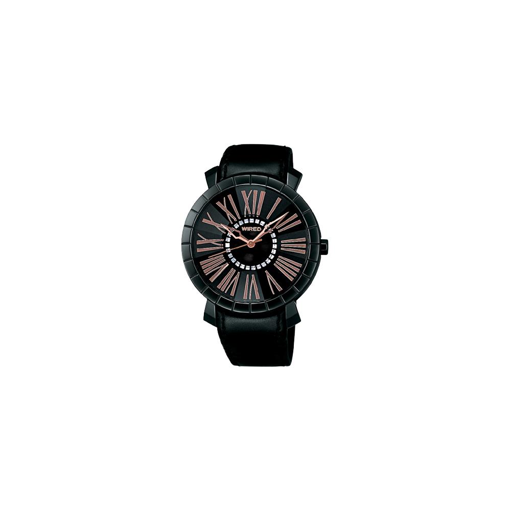 WIRED 夜之風華時尚腕錶(AG5A17X)-黑/35mm