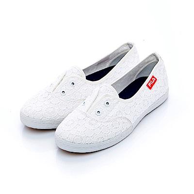 FILA 女款休閒鞋-白 5-C101S-111