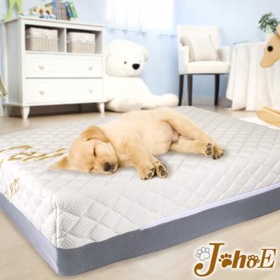 JohoE嚴選 魔法瓶台灣製毛小孩海藻天絲混紡布獨立筒彈簧床/床墊90x65x20cm
