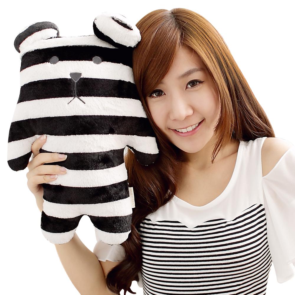 YOYOGO CRAFTHOLIC 黑白條紋熊寶貝枕