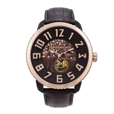 Tendence 天勢錶-47鏤空機械 限量款系列-黑金色樹/47mm