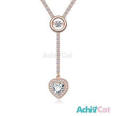 AchiCat 925純銀 跳舞的項鍊 動人心弦 跳舞石 (玫金)