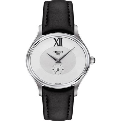 TISSOT天梭 BELLA ORA 系列小秒針女錶-銀x黑/31mm