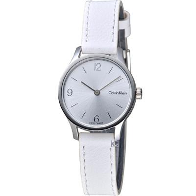 Calvin Klein Endless 摩登時尚細緻女錶-白/26mm