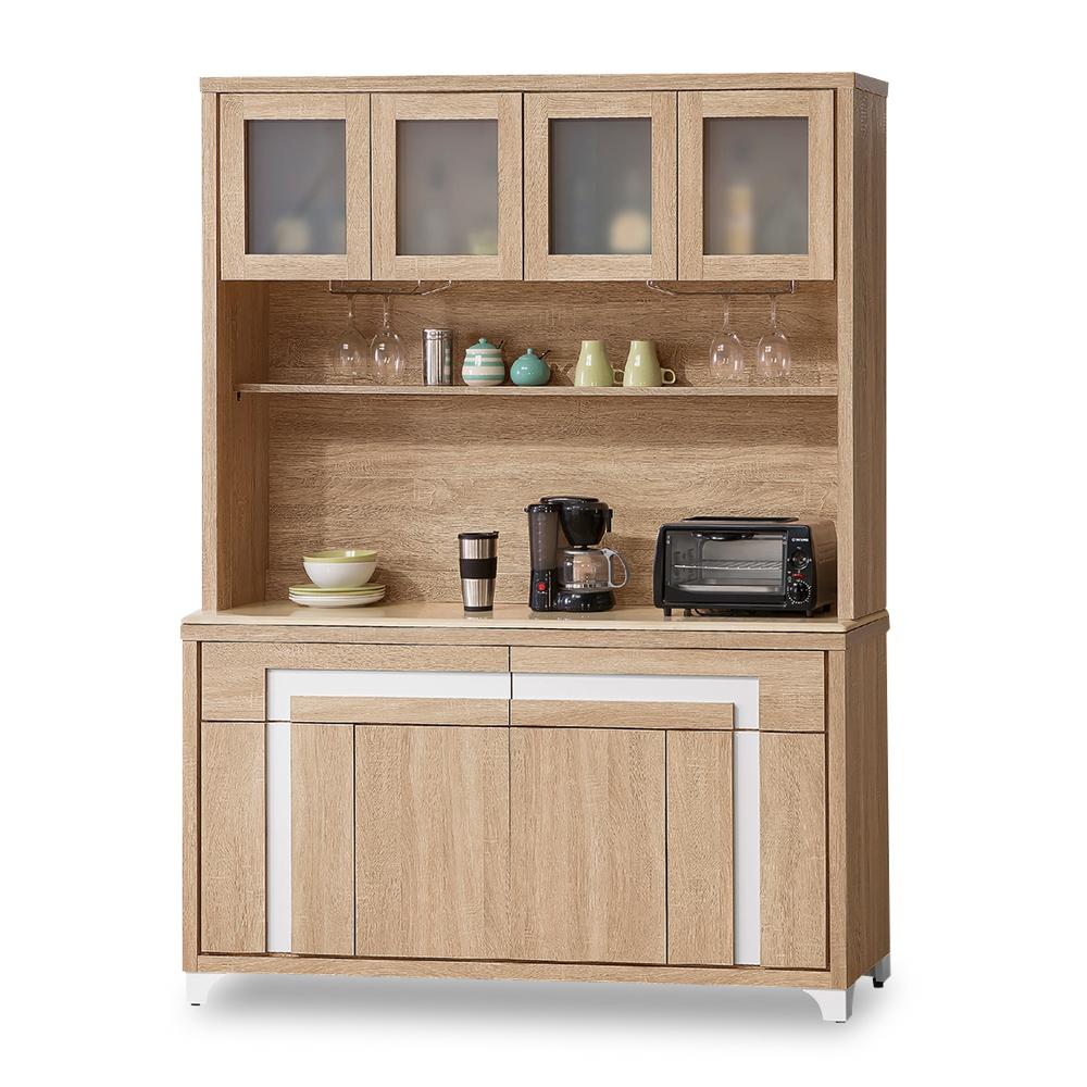 時尚屋 尼克絲北原橡木5尺餐櫃全組 寬150x深45x高199cm