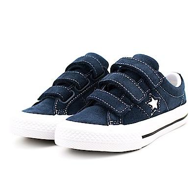 CONVERSE-中大童鞋658492C-藍
