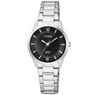 CITIZEN星辰 簡約時尚黑色錶面女仕手錶(ER0201-81E)-黑/27mm