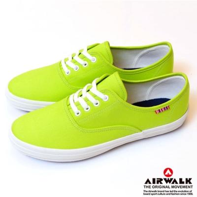 【美國 AIRWALK】繽紛一夏甜心女孩帆布鞋-女(青蘋綠)